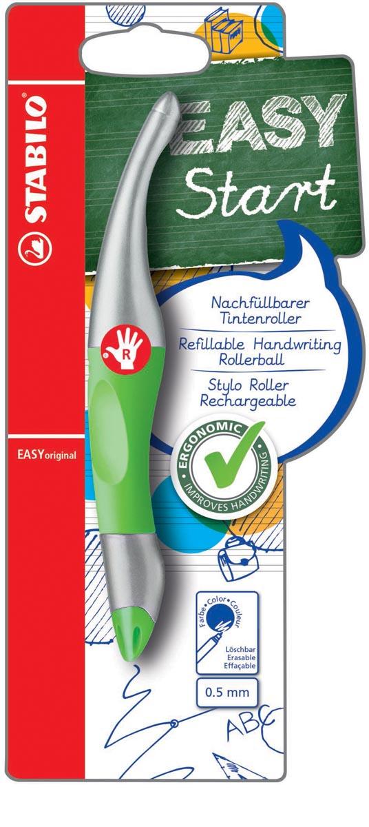 STABILO EASYoriginal metallic roller, voor rechtshandigen, blister van 1 stuk, groen-zilver