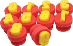 Safetool sjabloneersponsje set van 10 stuks, cijfers 0-9