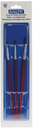 Gallery aquarelpenseel, blister met 3 penselen, nr 02, 04 en 06