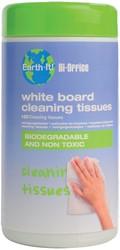 Bisilque Reinigingsdoekjes Earth-It whiteboard pak van 100 stuks