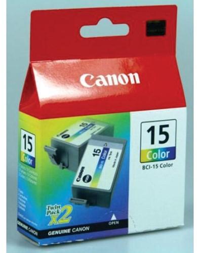 Canon inktcartridge BCI-15-CL, 100 pagina's, OEM 8191A002, 3 kleuren