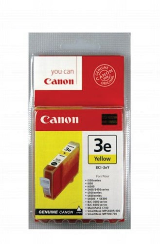 Canon inktcartridge BCI3-EY, 390 pagina's, OEM 4482A002, geel