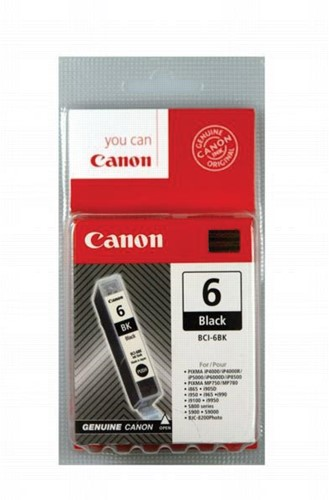 Canon inktcartridge BCI6B, 210 pagina's, OEM 4705A002, zwart