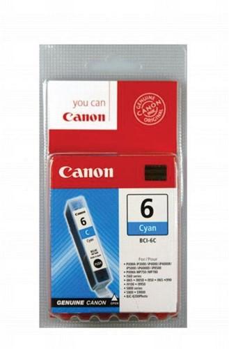 Canon inktcartridge BCI-6C, 280 pagina's, OEM 4706A002, cyaan