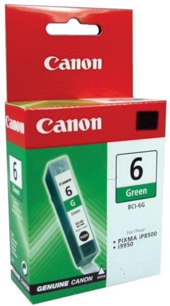 Canon inktcartridge BCI6G, 390 pagina's, OEM 9473A002, groen