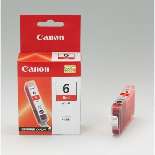Canon inktcartridge BCI-6R, 390 pagina's, OEM 8891A002, rood