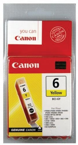 Canon inktcartridge BCI-6Y, 210 pagina's, OEM 4708A002, geel