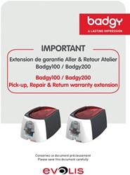 Badgy garantie uitbreiding voor badgy printers, 2 jaren