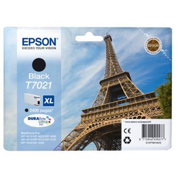 Epson inktcartridge T7021 XL zwart, 2400 paginas - OEM: C13T70214010