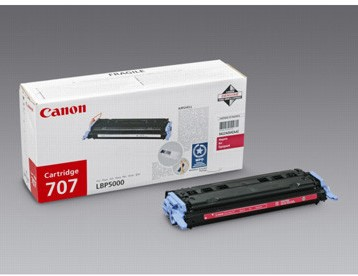 Canon toner 707M, 2.000 pagina's, OEM 9422A004, magenta