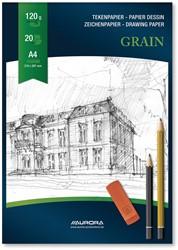 Aurora tekenblok Grain, 120 g/m², ft A4, 20 vel
