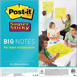 Post-it Super Sticky Big Notes, ft 56 cm x 56 cm, blok van 30 vel, groen