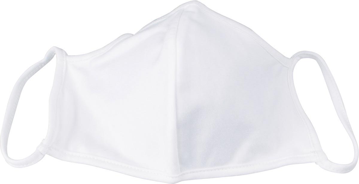 Wasbaar mondmasker, uni wit, maat: kinderen, pak van 5 stuks