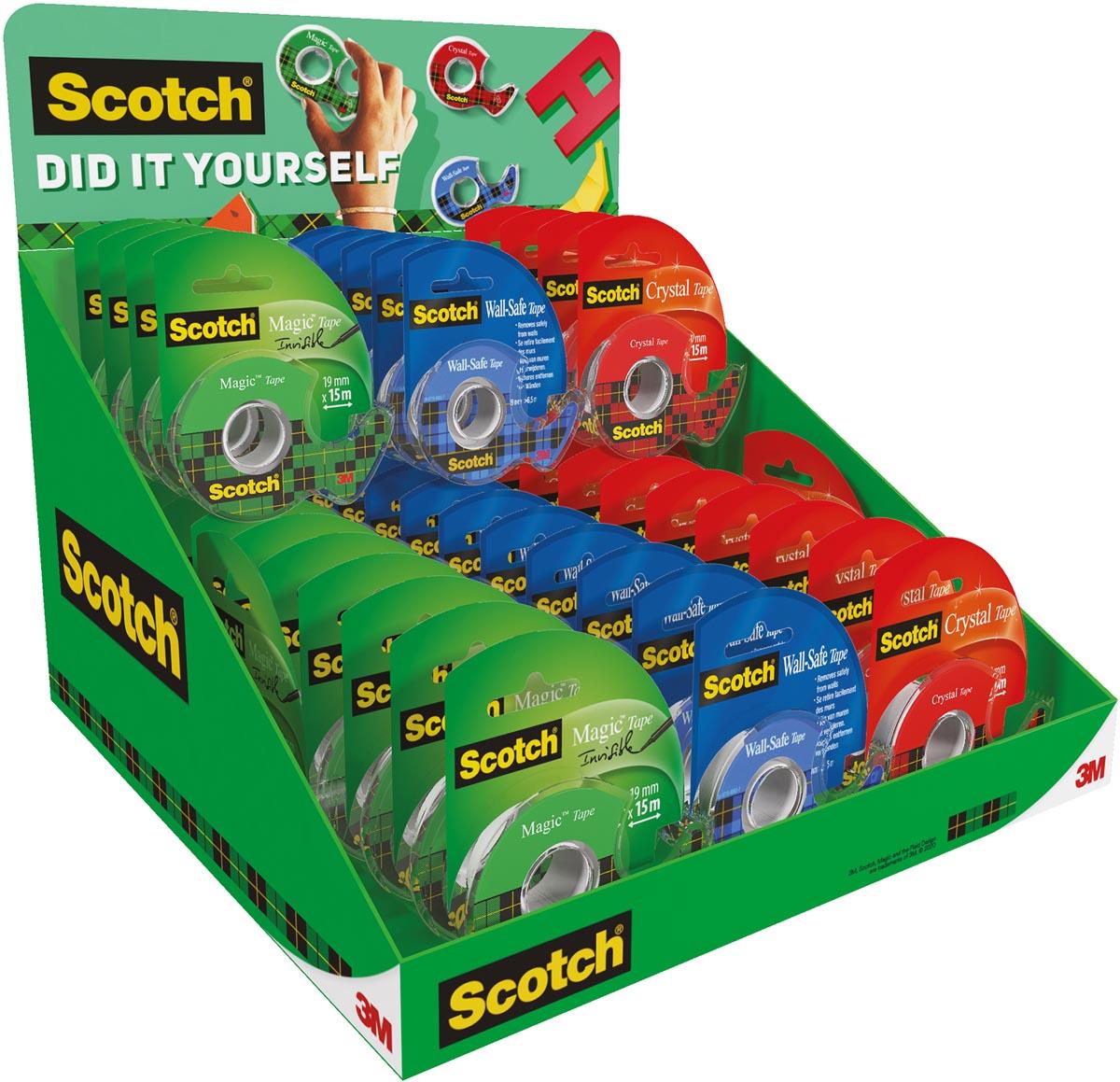 Scotch plakband toonbank display mix met 48 stuks