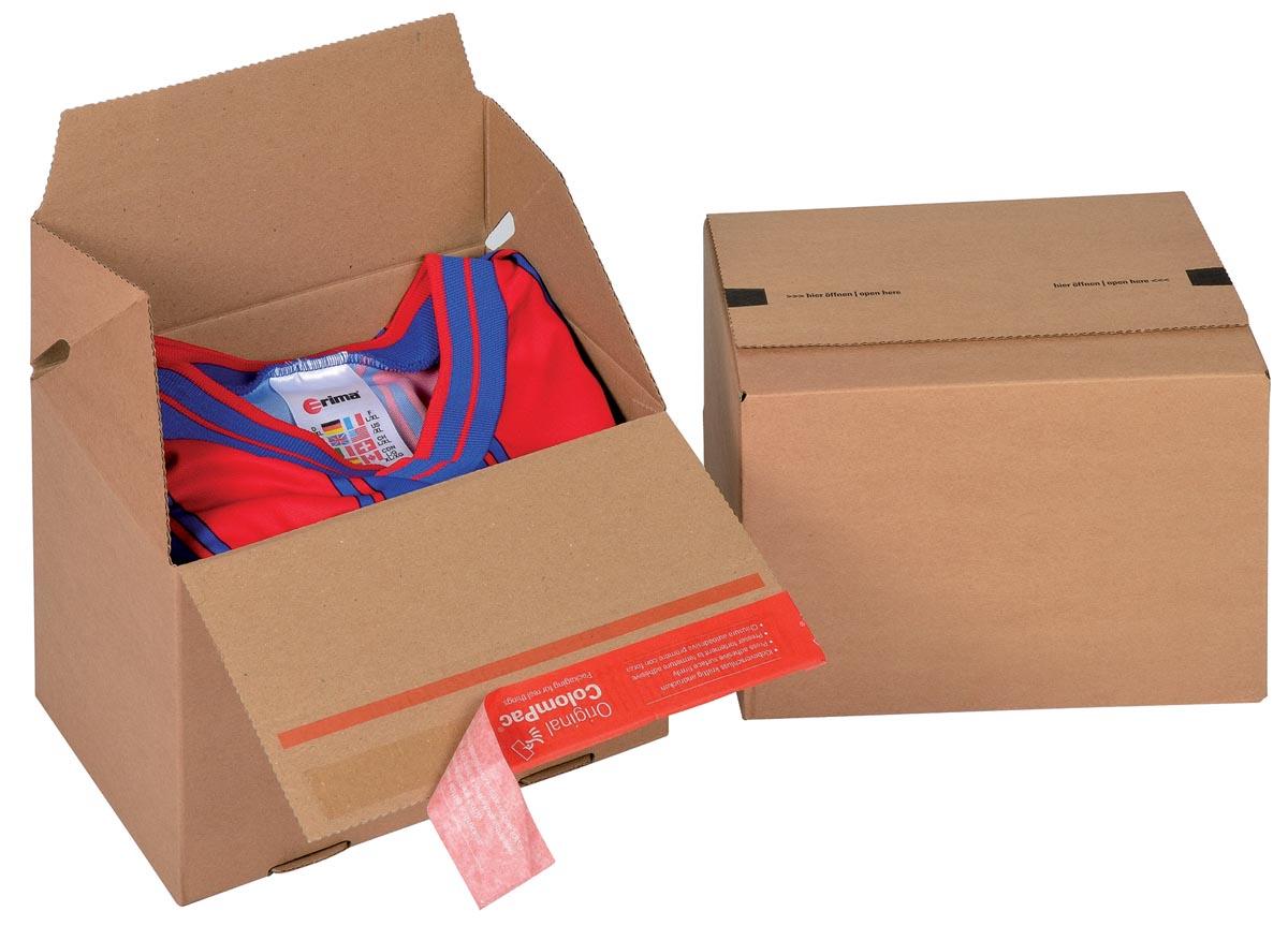 Colompac Eurobox Size S, binnenformaat 195 x 145 x 140 mm, bruin