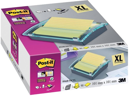 Post-it Z Notes millenium dispenser, zwart, ft 101 x 101 mm-2