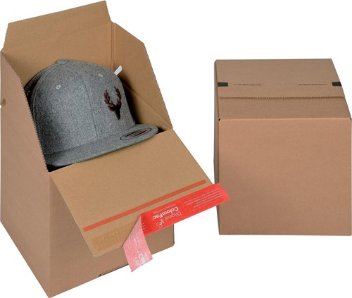 Colompac Eurobox Size S, binnenformaat 195 x 194 x 87 mm, bruin