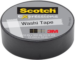 Scotch Expressions washi tape, 15 mm x 10 m, zwart