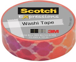 Scotch Expressions washi tape, 15 mm x 10 m, sunset