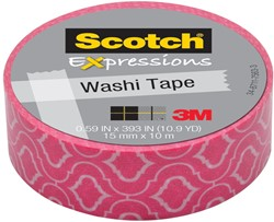 Scotch Expressions washi tape, 15 mm x 10 m, roze craquelé