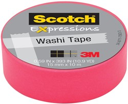 Scotch Expressions washi tape, 15 mm x 10 m, roze