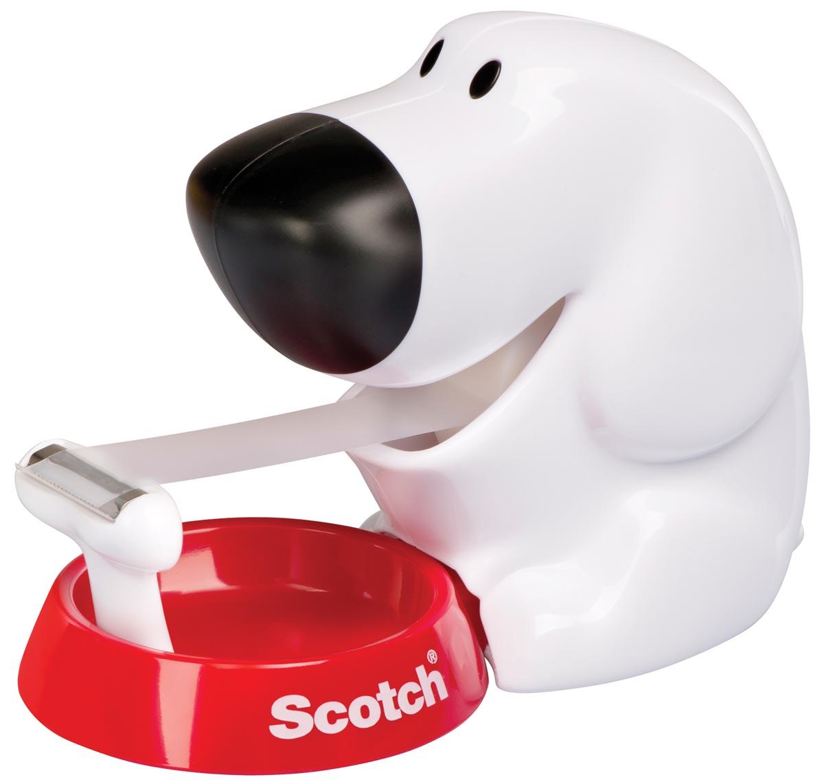 Scotch plakbandafroller hond