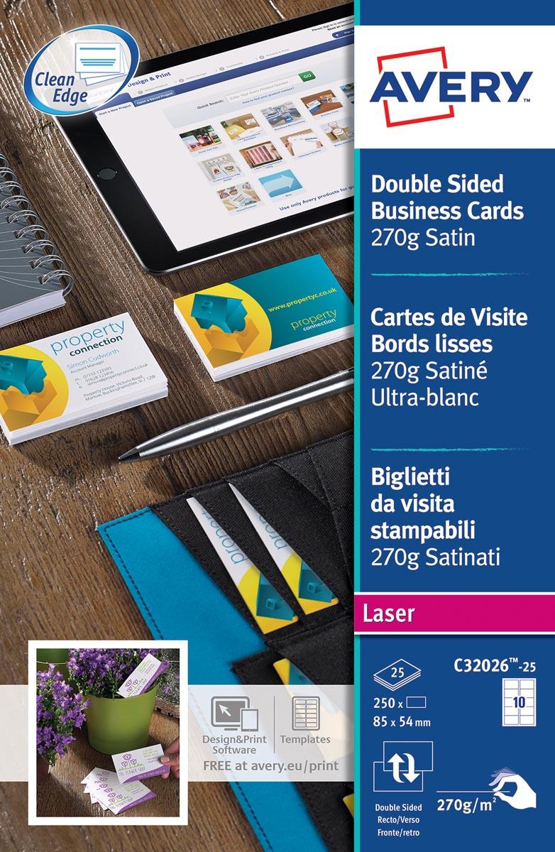 AVERY visitekaarten Quick&Clean 270 g/m�