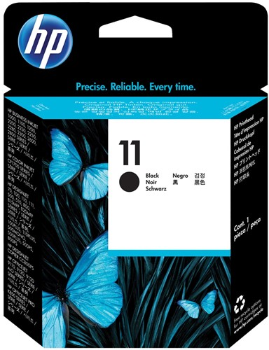 HP printkop 11, 24.000 pagina's, OEM C4810A, zwart