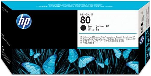 HP printkop 80, 2.500 pagina's, OEM C4820A, zwart