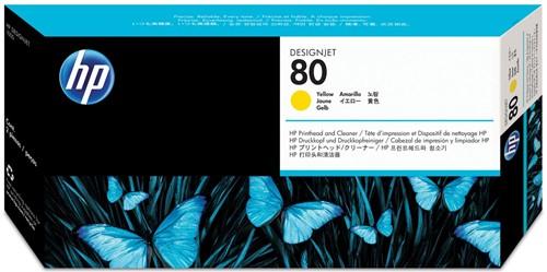 HP printkop 80, 2.500 pagina's, OEM C4823A, geel