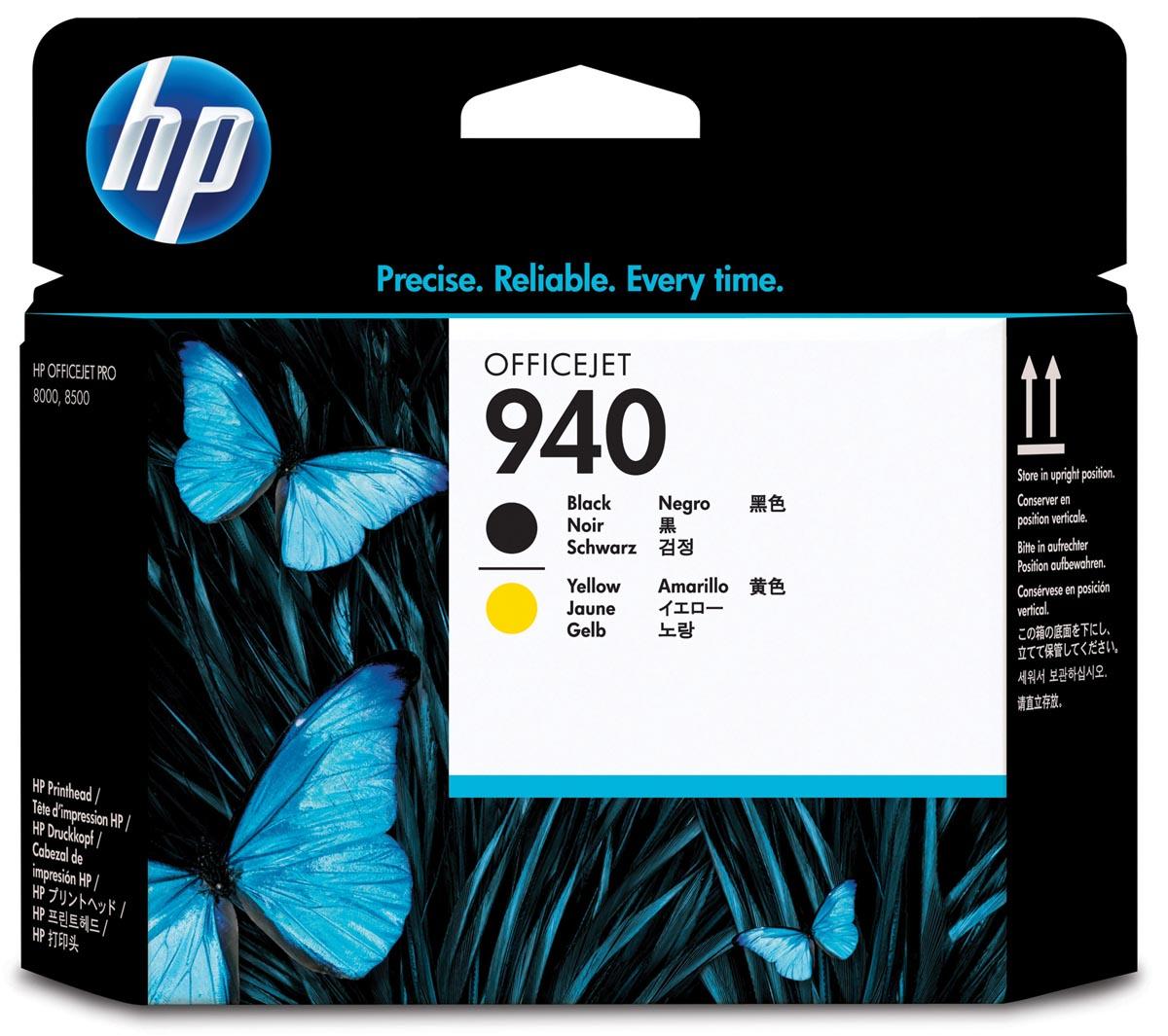 HP printkop 940, 1 000 paginas, OEM C4900A, zwart-geel