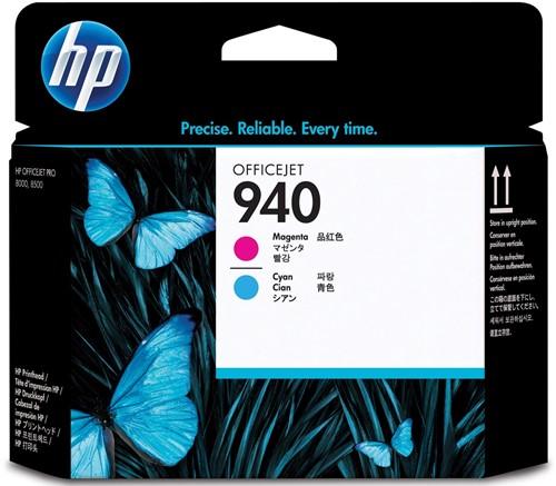 HP printkop 940, 1.000 pagina's, OEM C4901A, cyaan-magenta