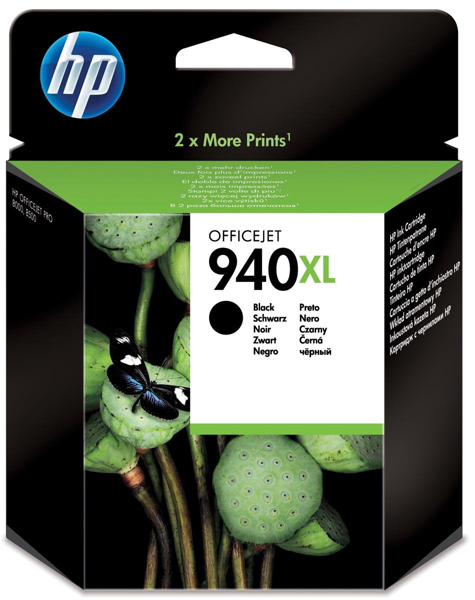 HP inktcartridge 940XL, 2 300 paginas, OEM C4906AE#301, zwart, met beveiligingssysteem