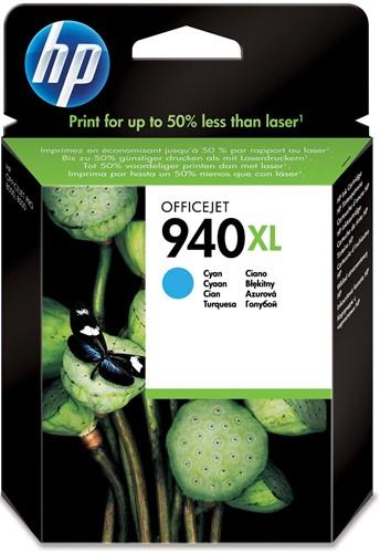 HP inktcartridge 940XL, 1.400 pagina's, OEM C4907AE, cyaan