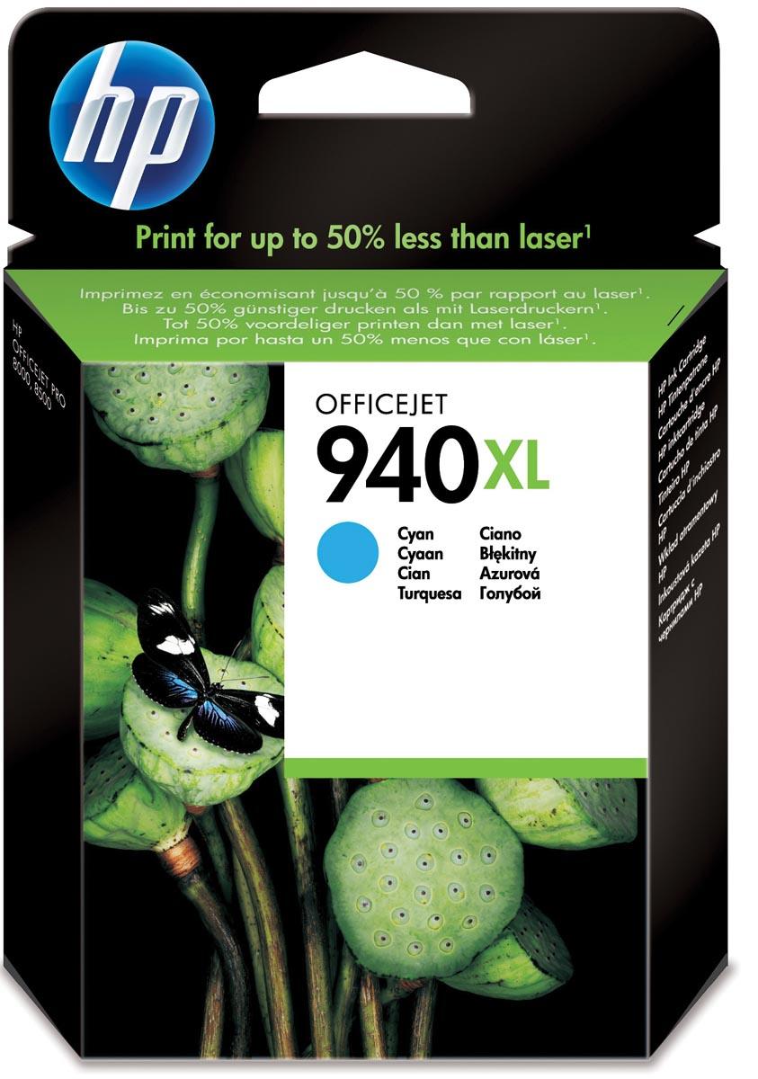 HP inktcartridge 940XL, 1 400 paginas, OEM C4907AE, cyaan