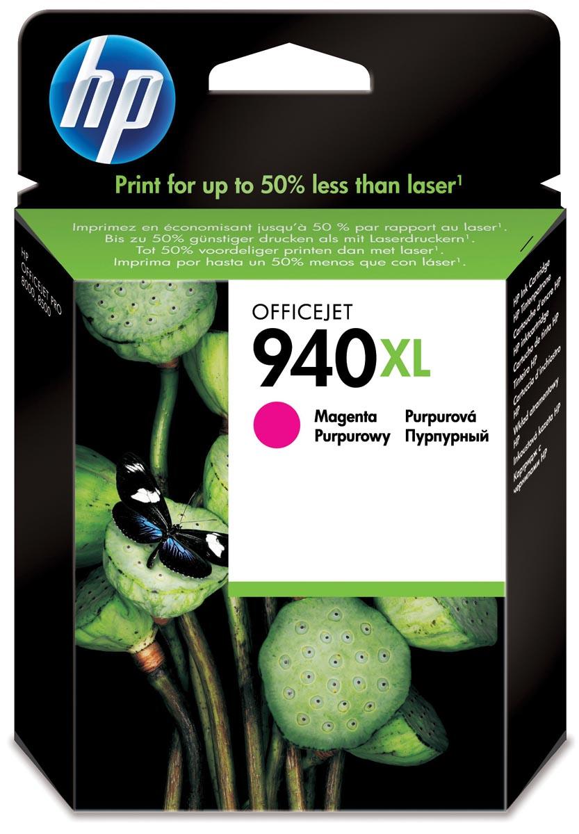HP inktcartridge 940XL, 1 400 paginas, OEM C4908AE, magenta
