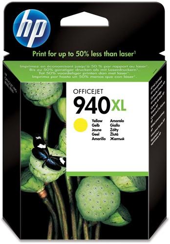HP inktcartridge 940XL, 1.400 pagina's, OEM C4909AE, geel