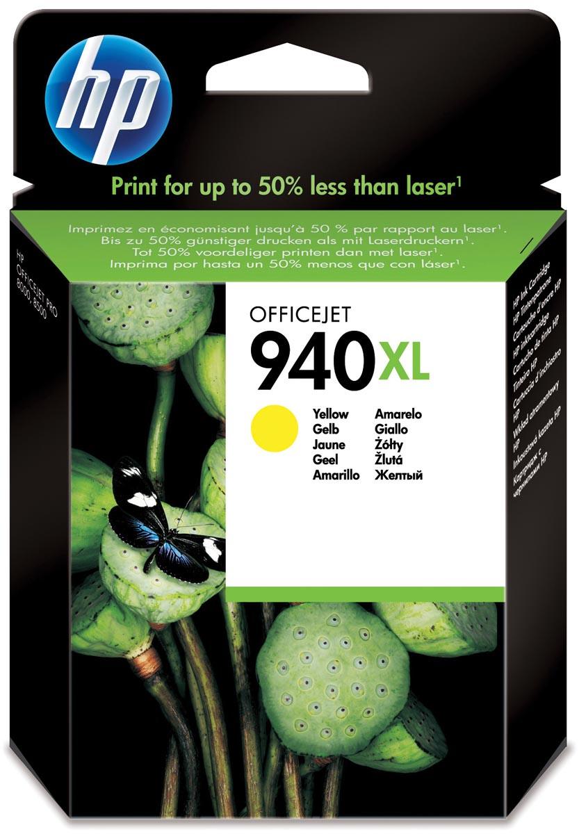 HP inktcartridge 940XL, 1 400 paginas, OEM C4909AE, geel