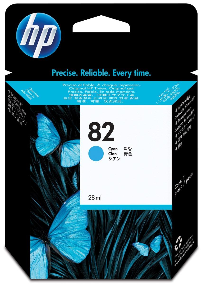 HP inktcartridge 82, 3 200 paginas, OEM C4911A, cyaan