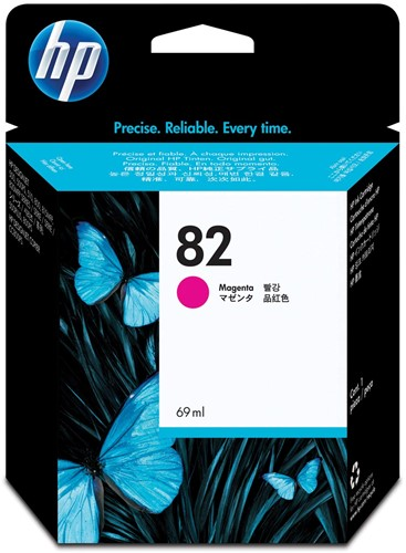 HP inktcartridge 82, 3.200 pagina's, OEMC 4912A, magenta