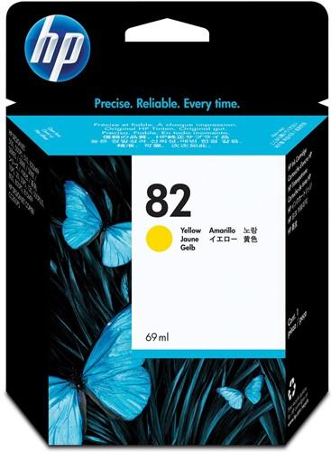 HP inktcartridge 82, 3.200 pagina's, OEM C4913A, geel