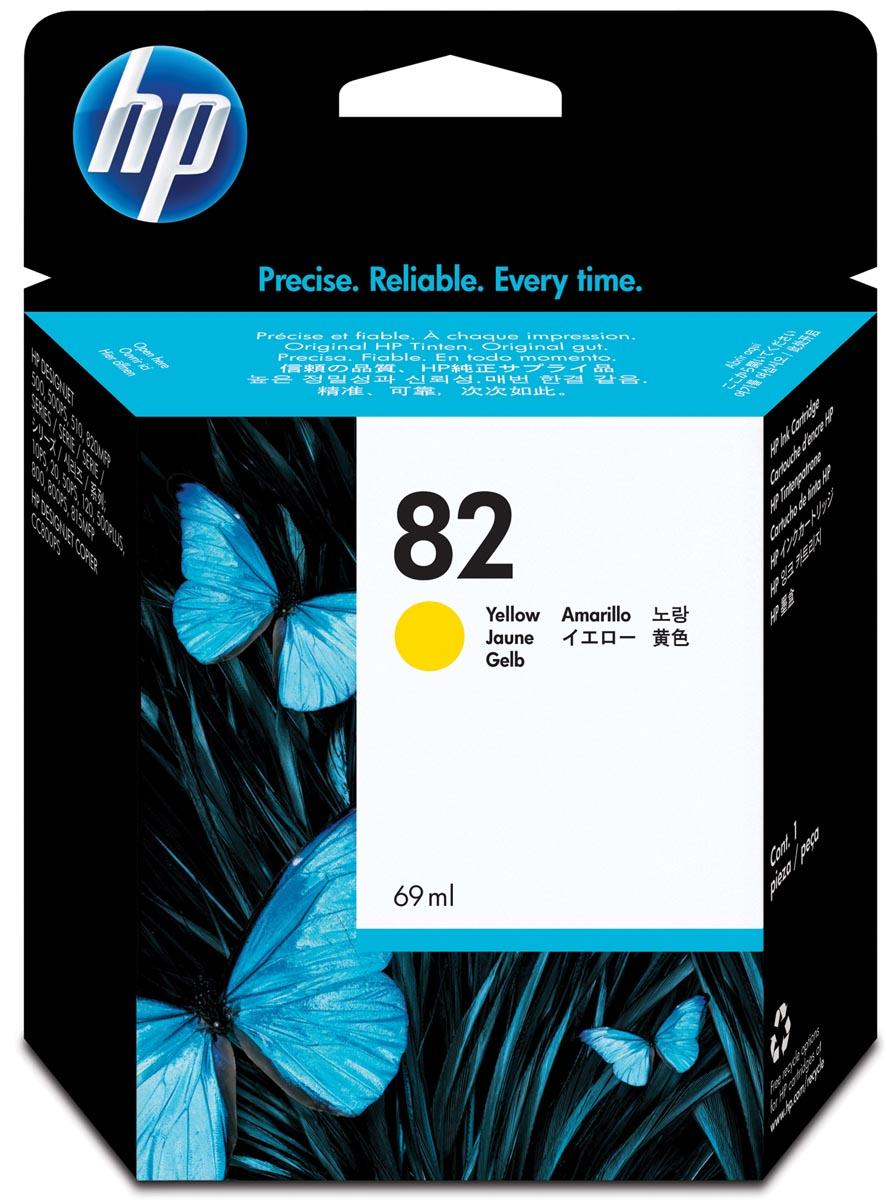 HP inktcartridge 82, 3 200 paginas, OEM C4913A, geel