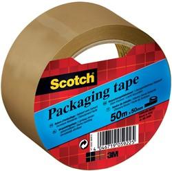 Scotch verpakkingsplakband, ft 50 mm x 50 m, PP, bruin, individueel verpakt