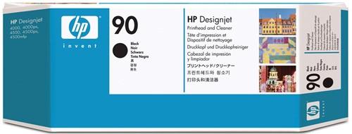 HP printkop 90, 44 ml, OEM C5054A, zwart, inclusief printkopreiniger