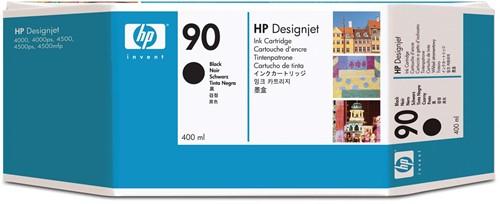 HP inktcartridge 90, 1.200 pagina's, OEM C5058A, zwart