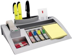 Post-it Index desk organizer, zilver, voor ft 26 x 16,5 x 5,5 cm
