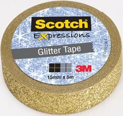 Scotch Expressions glitter tape, 15 mm x 5 m, goud
