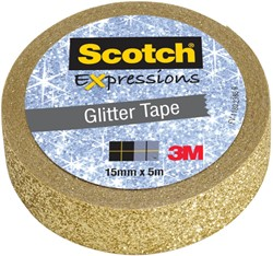 Scotch Expressions glitter tape, 15 mm x 5 m, goud