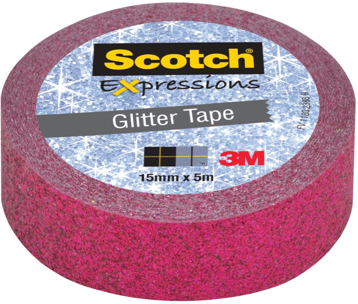 Scotch Expressions glitter tape, 15 mm x 5 m, roze