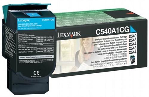 Lexmark Toner cyaan return program - 1000 pagina's - C540A1CG